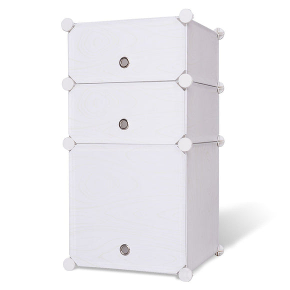 Bookcase Storage Cabinet with 3 Compartments