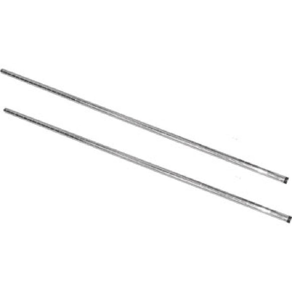 2PCE Vogue Chrome Upright Posts 1270mm