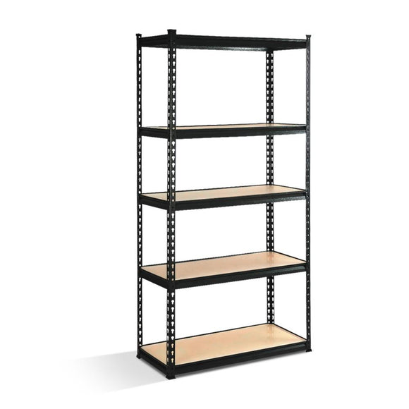 Giantz 5 Tier Industrial Shelving Unit - Black