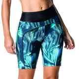 LONG ACTIVE SHORTS - TEAL/BLACK - BER62.001