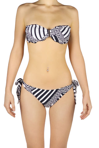 DJW BIKINI SET-  BLACK/WHITE PATTERNED- KIT263.001