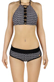 DJW BIKINI SET -  BLACK/WHITE PATTERNED - KIT269.003