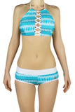 DJW BIKINI SET - BLUE/WHITE PATTERNED - KIT269.001
