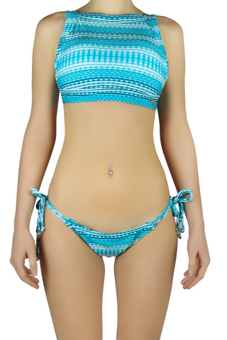 DJW BIKINI SET - LIGHT BLUE/ WHITE PATTERNED - KIT214.001