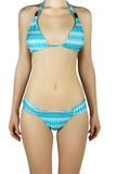 DJW BIKINI SET - FUJI LIGHT BLUE/WHITE PATTERNED - KIT278.001