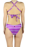 DJW BATHING SUIT SET - PURPLE/WHITE PATTERNED - MA31.002