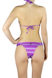DJW BIKINI SET -FUJI PURPLE/WHITE PATTERNED - KIT278.002