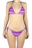 DJW BIKINI SET - PURPLE/ WHITE PATTERNED - KIT197.008