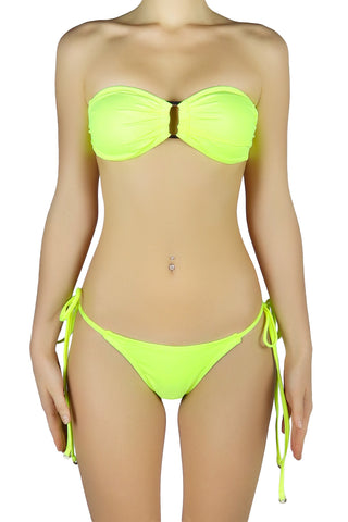 DJW BIKINI SET [NEON YELLOW BANDEAU SET]