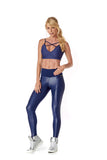 SABRINA LEGGING - METALLIC DARK BLUE - FS207.004