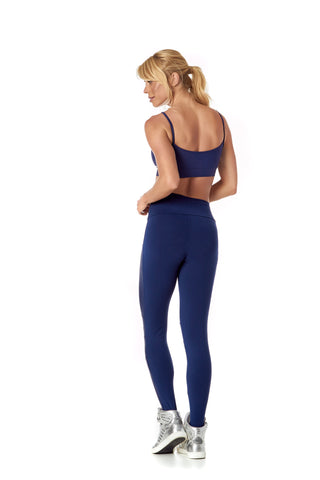 SABRINA LEGGING - METALLIC DARK BLUE