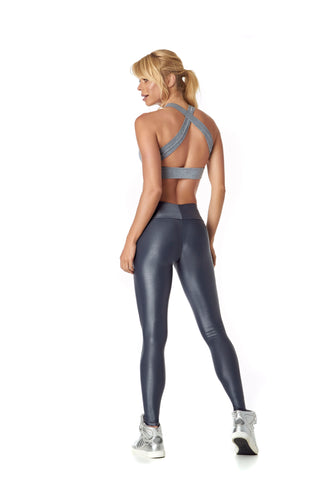 MARULA LEGGING - METALLIC GREY