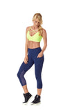 SARA CROP LEGGING - NAVY - LEG54.002