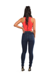 BARBARA HIGH-RISE SKINNY JEAN [DARK BLUE]