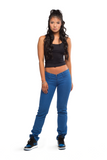 A4 ULTRA LOW-RISE SLIM JEAN (TRUE BLUE)- A4-Light-Slim
