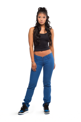 A4 ULTRA LOW-RISE SLIM JEAN [TRUE BLUE] - A4-Light-Slim