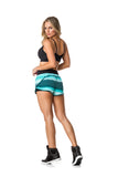 ACTIVE SHORTS - BLACK/TEAL - SH102.003