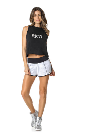 ACTIVE SHORTS - WHITE/BLACK - SH113.003