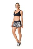ACTIVE SHORTS - BLACK/WHITE PATTERNED - SH117.001