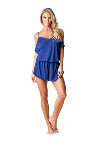 SWIMSUIT COVER UP - JUMPSUIT [DEEP BLUE] - SP52.003