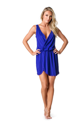 SWIMSUIT COVER UP - ROYAL BLUE - SP53.002