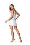 SWIMSUIT COVER UP DRESS - WHITE - SP61.006