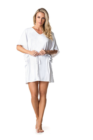 SWIMSUIT COVER UP DRESS - WHITE - SP64.001