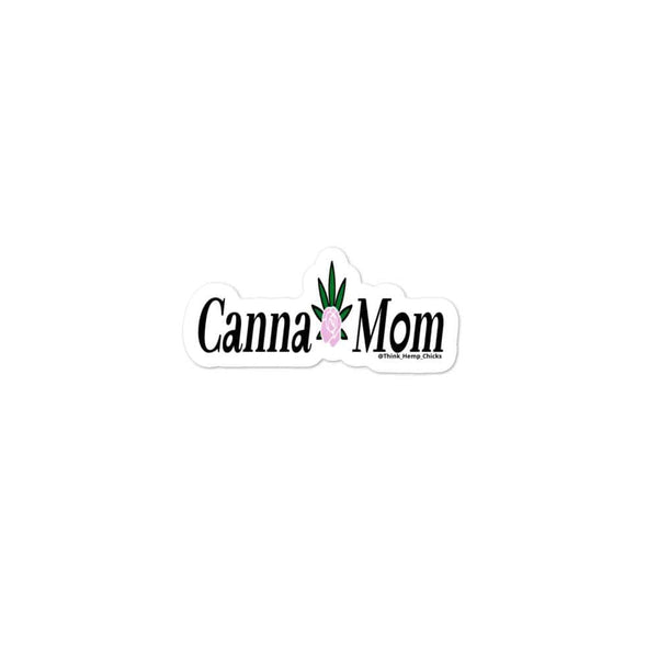 Canna- Mom Bubble-free stickers - Think Hemp Chicks
