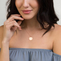 Hemp Leaf Engraved Silver Disc Necklace - Think Hemp Chicks
