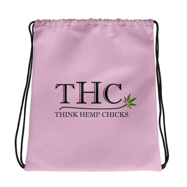 Think Hemp Chicks Drawstring Bag - Think Hemp Chicks