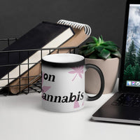 """Run On""Matte Black Magic Mug - Think Hemp Chicks"