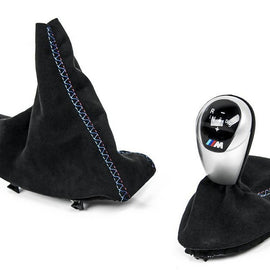 IND E9X M3 Custom Tri-Color Alcantara Shift Boot Set