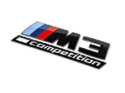 iND - Gloss Black Competition Trunk Emblem - BMW F80 M3