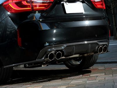 3D Design - Carbon Fiber Rear Diffuser - BMW F86 X6M