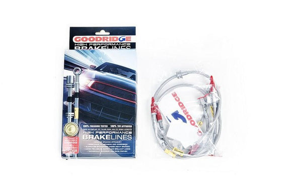 Goodridge F8X M2c / M3 / M4 Stainless Steel Brake Line Set
