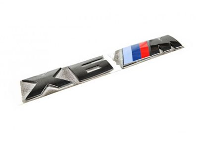 IND - Black Chrome Trunk Emblem - BMW F86 X6M