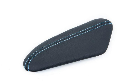 IND F87 M2 Stitched Leather Knee Pad - Polar Blue