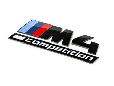 iND - Gloss Black Competition Trunk Emblem - BMW F82 M4