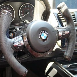 Dinmann - Carbon Fiber T-Fighter Steering Wheel - BMW F-Chassis