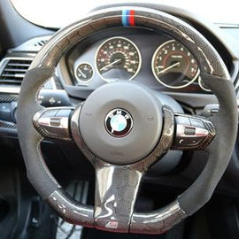 Dinmann - Honeycomb Carbon Fiber Steering Wheel - BMW F-Chassis