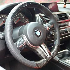 Dinmann - Carbon Fiber M Performance Electronic Steering Wheel - BMW F-Chassis