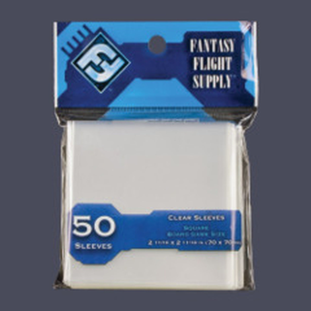 FANTASY FLIGHT Square Card Size Board Game Sleeves Clear 70 x 70mm 50ct Pack FFG