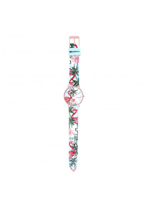 TROPICAL - CUIR MULTICOLORE / ROSE | BCL10032-69