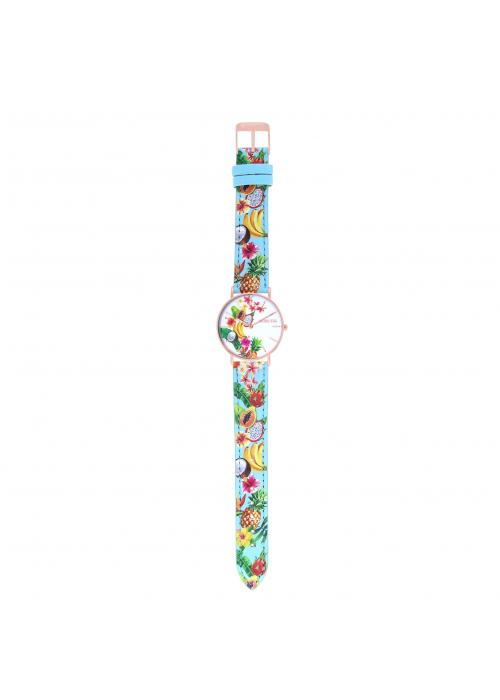 TROPICAL - CUIR MULTICOLORE / ROSE | BCL10032-75