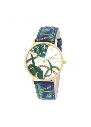 Clueless Montre Femme -  Cadran multicolore - Collection UNCHAINED-CUIR MULTICOLORE / OR | BCL10032-077