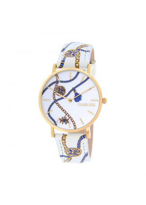 Clueless Montre Femme -  Cadran multicolore - Collection UNCHAINED-CUIR MULTICOLORE / OR | BCL10032-078