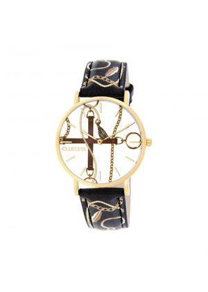 Clueless Montre Femme -  Cadran multicolore - Collection UNCHAINED-CUIR MULTICOLORE / OR | BCL10032-079
