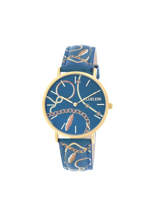 Clueless Montre Femme -  Cadran multicolore - Collection UNCHAINED-CUIR MULTICOLORE / OR | BCL10032-081