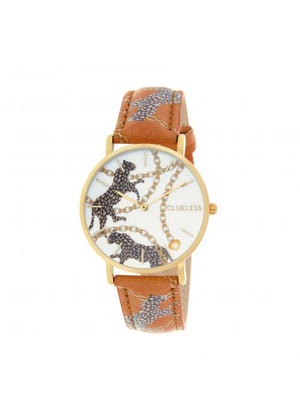 Clueless Montre Femme -  Cadran multicolore - Collection UNCHAINED-CUIR MULTICOLORE / OR | BCL10032-084