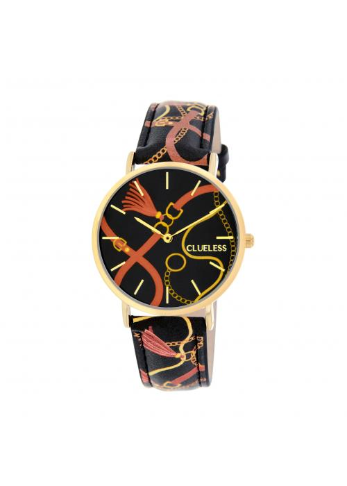 Clueless Montre Femme -  Cadran multicolore - Collection UNCHAINED-CUIR MULTICOLORE / OR  | BCL10032-085